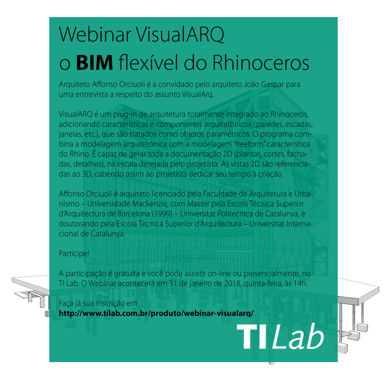 Webinar VisualARQ – o BIM flexível do Rhinoceros